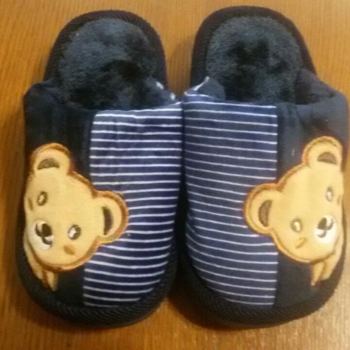 Теплые детские тапочки размер 24-14 см.