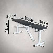 Лавка з від'ємним кутом (до 250 кг) + Стійки під штангу з страховкою (до 250 кг), фото 5