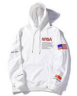 Кофта мужская зимняя NASA трикотажная белая
