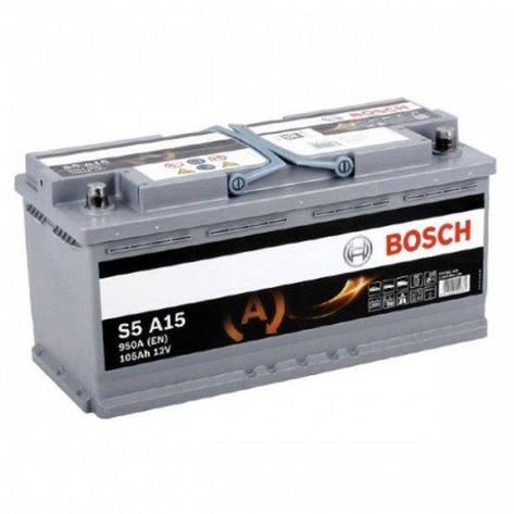 Bosch 6СТ-105 АзЕ AGM 0 092 S5A 150 Автомобильный аккумулятор, фото 2