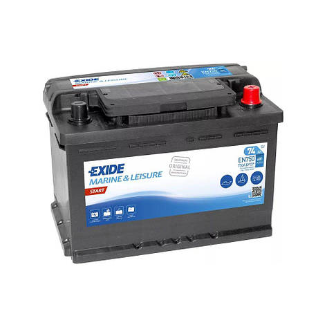 EXIDE 6СТ-74 АзЕ EN750 Start Тяговый аккумулятор, фото 2