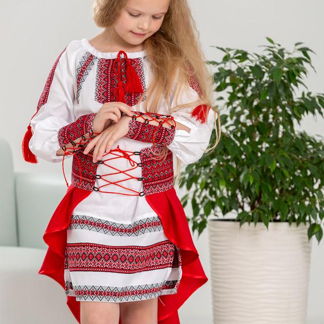 Красный костюмчик для девочки с Украиночка