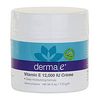 Крем увлажняющий с витамином Е, Derma E,  113 грамм