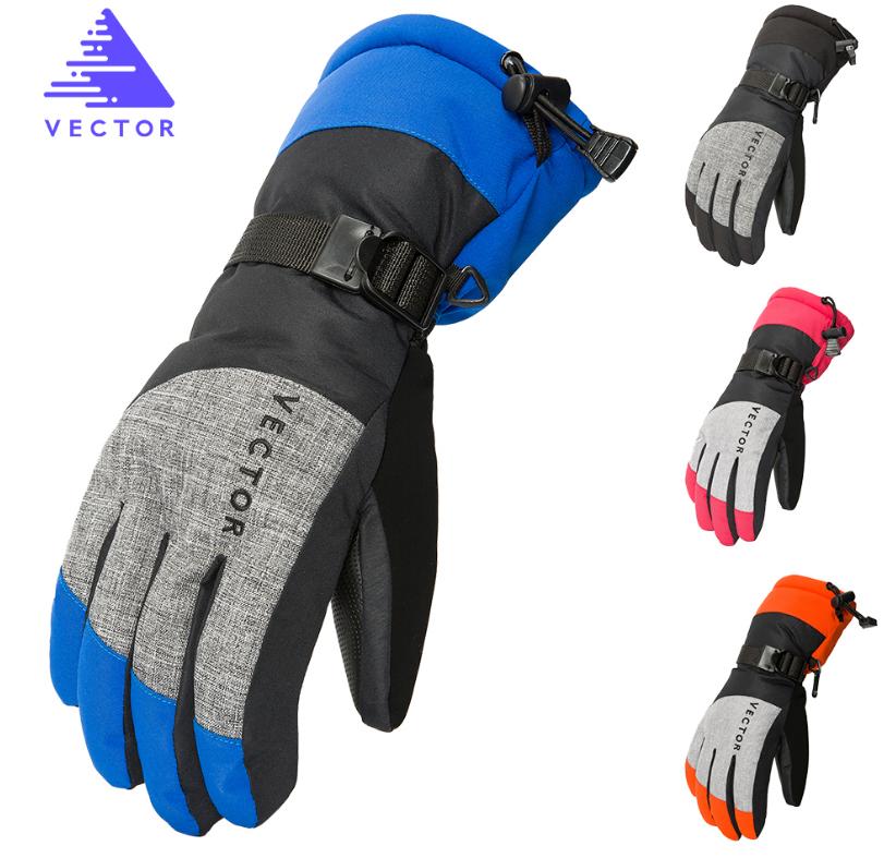 Перчатки горнолыжные теплые VECTOR - влагозащита, ветрозащита