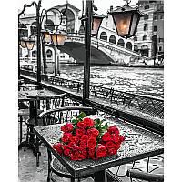 """Картина раскраска по номерам """"У моста Риальто в Венеции"""" на холсте 40х50 см. Фотохудожник Ассаф Франк VP 694"""