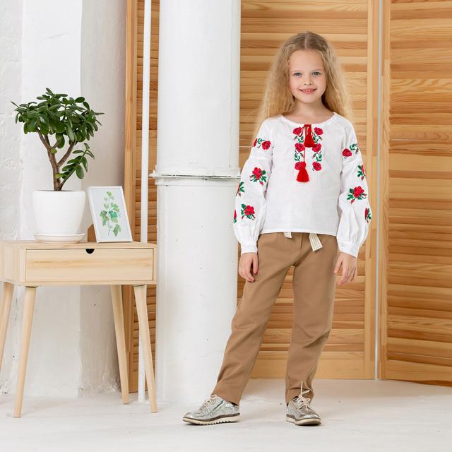 Вышиванка для девочки с стиле бохо Трояндочка