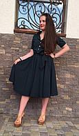 Нарядное женское платье с пышной юбкой .