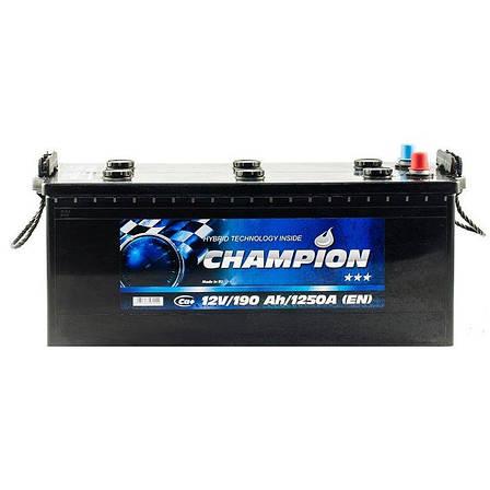 Грузовой аккумулятор Champion 6СТ-190 Black CHB190-3, фото 2