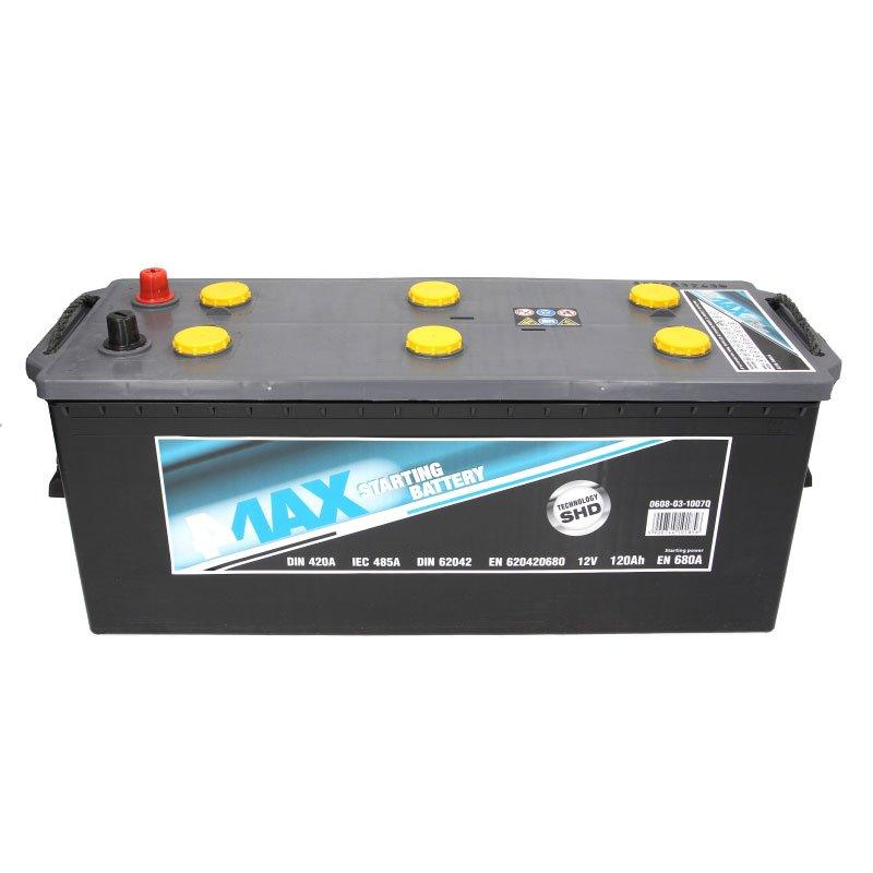 Грузовой аккумулятор 4Max 6СТ-120 Аз 0608-03-1007Q