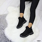 Демисезонные женские ботинки черного цвета, из эко замши 37 38 ПОСЛЕДНИЕ РАЗМЕРЫ, фото 2