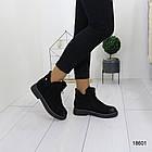 Демисезонные женские ботинки черного цвета, из эко замши 37 38 ПОСЛЕДНИЕ РАЗМЕРЫ, фото 3
