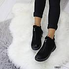 Демисезонные женские ботинки черного цвета, из эко замши 37 38 ПОСЛЕДНИЕ РАЗМЕРЫ, фото 4