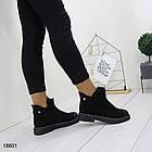 Демисезонные женские ботинки черного цвета, из эко замши 37 38 ПОСЛЕДНИЕ РАЗМЕРЫ, фото 5