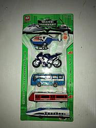 Набор машин для мальчика 399-268 инерция игровой набор машин 5 штук в упаковке