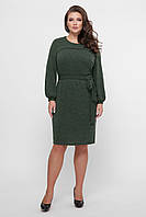 Платье вязаное Эмили зеленое, фото 1