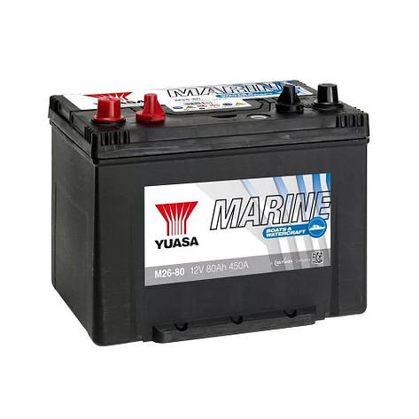 Yuasa 6СТ-80 Аз Marine M26-80 Лодочный аккумулятор, фото 2