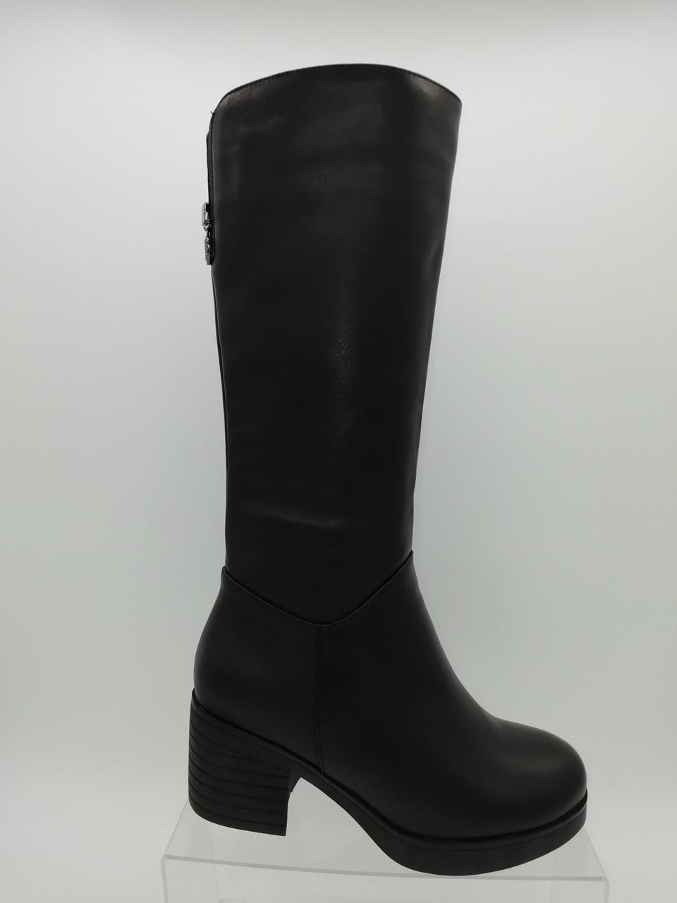 Шкіряні зимові чоботи. Маленькі розміри (33 - 35).