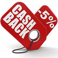 Cashback -5% от стоимости товара на наступну покупку