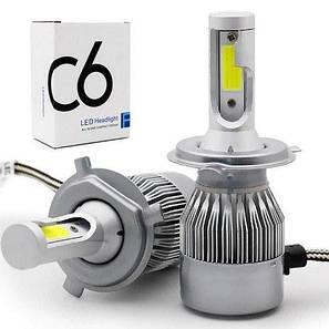 Світлодіодні лампи Led C6 H4 (ближній/дальній), фото 2