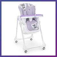 Стульчик для кормления Bambi M 3233 Teddy Lilac Бемби детский стул   Стілець для годування Бембі