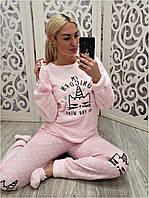 Теплая махровая пижама кофта и брюки Турция, фото 1