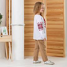 Вишита дитяча блузака для дівчинки Зірочка, фото 3