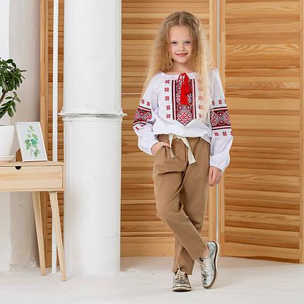 Вишита дитяча блузака для дівчинки Зірочка, фото 2