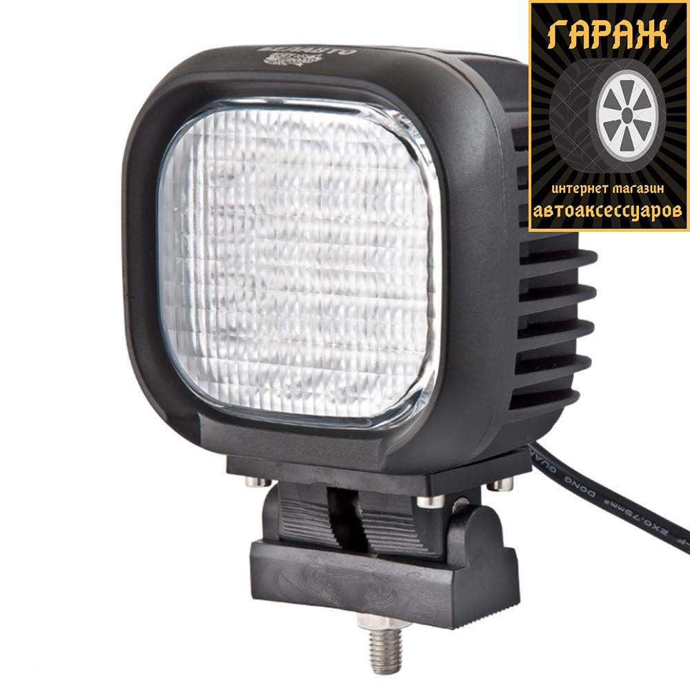 """Фара LED Квадрат 48W (3W*16) 125*110*88mm Дальний/Spot """"Лидер"""" 22-48W"""
