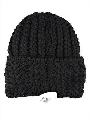 Шапка крупной вязки Flirt Стилари One Size черная, фото 2