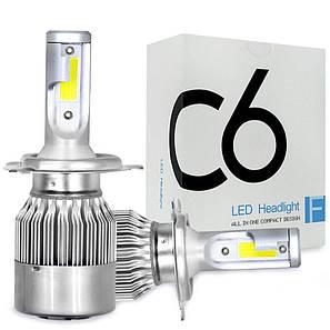 Автомобильные светодиодные Лед LED лампы C6 H7, фото 2