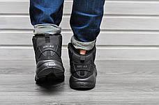 Мужские кроссовки с термоноском Nike Air Huarache High Full Black черные, фото 3