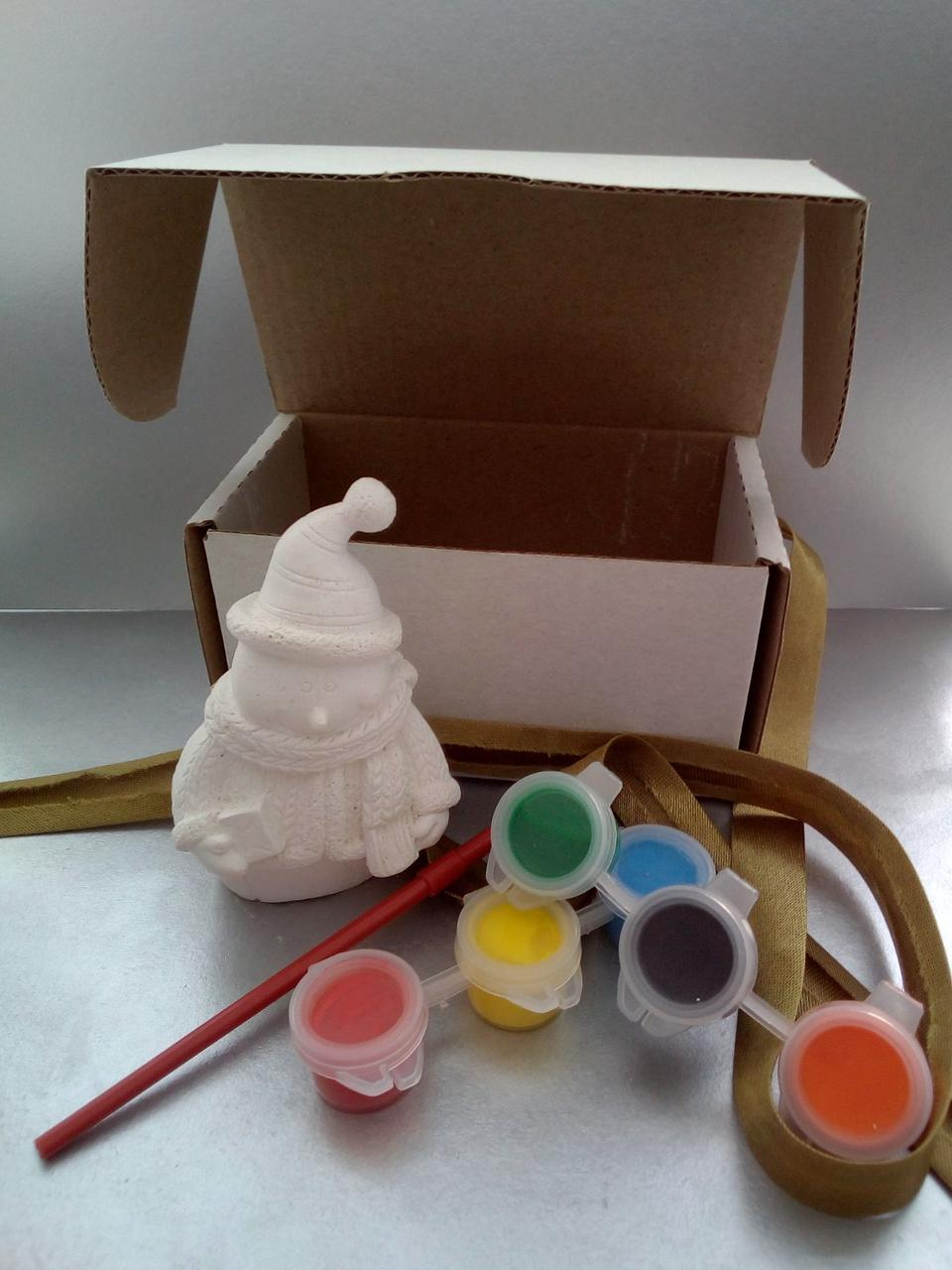 Новогодний набор гипсовых фигурок. Новорічний набір гіпсових фігурок. №78, фото 1