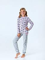 Пижама с начесом для девочки Смил, арт. 104418, возраст от 7 до 10 лет
