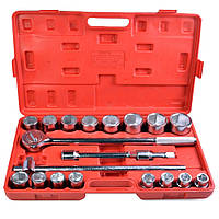 Набор инструментов 21 предмет, 3/4 дюйма, 6 граней, 19-50 мм Intertool HT-2221