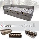 Ліжко двоспальне з мякою спинкою спальню Болеро меблева тканина (80х200) Віка, фото 4