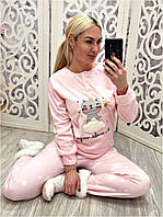 Флисовая теплая пижама женская Турция, фото 1