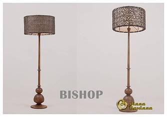 Лампа Bishop с плетеным абажуром