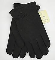 """Перчатки мужские зимние трикотажные """"Королева"""". Очень теплые. Черный цвет., фото 1"""