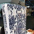 "Турецкий хлопковый плед 200х240 Евро ""Pamuklu battaniye"" 1675A. Узоры, серо-белый, фото 2"