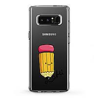 Чехол силиконовый для Samsung Galaxy (Кавайный карандаш) J8/J7 Max/Core/Prime/Duo/V/J6 Plus/J4/J3 Pro/J2/J1 mini самсунг галакси джей плюс про 2018