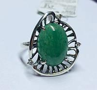 Серебряное кольцо с нефритом Баунти