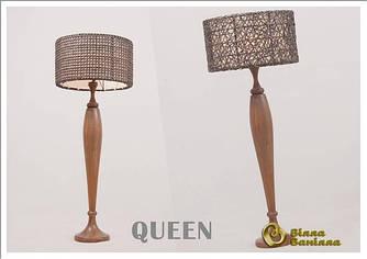 Лампа Queen с плетеным абажуром
