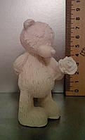 Гипсовая фигурка для раскрашивания статуэтка. Гіпсова фігурка для розмальовування. Мишка с розой