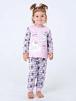 Пижама с начесом для девочки Смил, арт. 104201, возраст от 1 до 1,5 лет