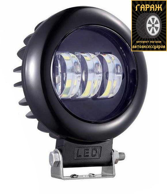 """Фара LED Круг 30W (10W*3)  Ø 115*60mm Ближний/Flood Правильный свет """"Лидер"""" W0530BB"""