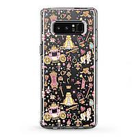 Чехол силиконовый для Samsung Galaxy (Аксессуары для принцессы) J8/J7 Max/Core/Prime/Duo/V/J6 Plus/J4/J3 Pro/J2/J1 mini самсунг галакси джей плюс про