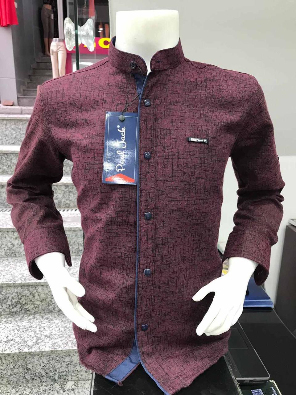 Детская кашемировая рубашка Paul Jack  7-12 стойка