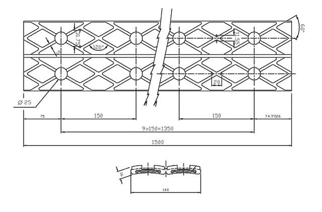 Схематический чертеж футеровки Drive-Lag
