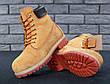 Мужские зимние ботинки из натурального нубука и натуральным мехом в стиле Timberland Boots Brown коричневые, фото 5