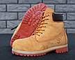 Мужские зимние ботинки из натурального нубука и натуральным мехом в стиле Timberland Boots Brown коричневые, фото 6